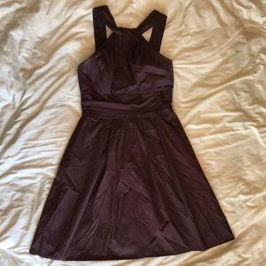 David's Bridal Twist Neck Dress
